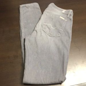 7 for all mankind grey jeans size 28